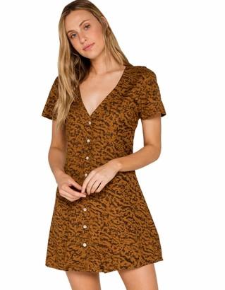RVCA Women's Guilt Woven Button UP Dress