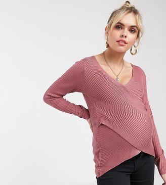 Mama Licious Mamalicious wrap front jumper