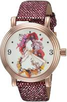 Disney Women's 'Princess Belle' Quartz Metal Casual Watch, Color: (Model: WDS000178)