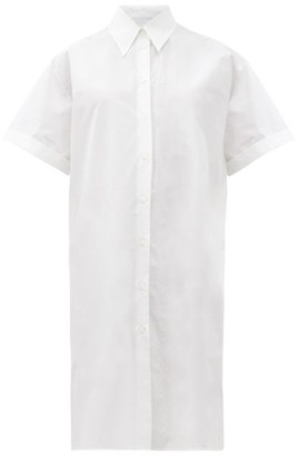 MM6 MAISON MARGIELA Oversized Cotton-poplin Shirt Dress - White