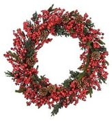 Fantastic Craft BM741 NATURA 28-Inch Berry and Pinecone Wreath