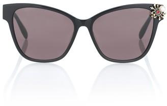 Alexander McQueen Spider embellished cat-eye sunglasses