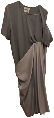 Acne Studios Grey Silk Dress for Women
