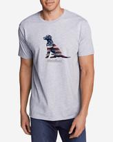 Eddie Bauer Men's Graphic T-Shirt - Sitting Dog Flag