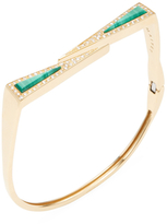 Maiyet 18K Yellow Gold, Malachite & 0.95 Total Ct. Diamond Dagger Slice Bracelet
