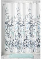 "InterDesign Anzu Fabric Shower Curtain, 72"" x 72"", Mint/Gray"