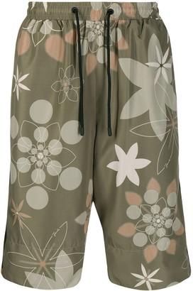Fendi floral print Bermuda shorts
