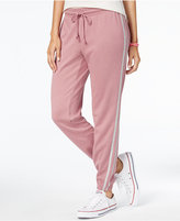 Ultra Flirt Juniors' Side-Stripe Jogger Pants