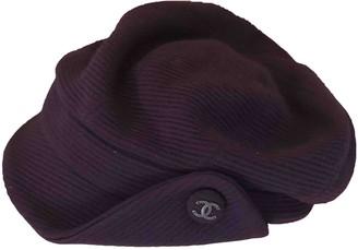 Chanel Purple Wool Hats