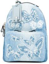 Valentino Rockstud - Denim Butterfly Medium Backpack