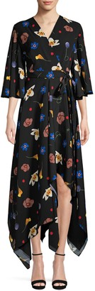 SOLACE London Darlina Asymmetric Floral Dress