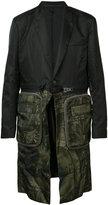 Givenchy zip detail mid-length coat - men - Polyamide/Polyester/Viscose - 52