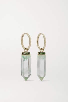 Noor Fares 18-karat Gray Gold, Quartz And Tourmaline Earrings - one size