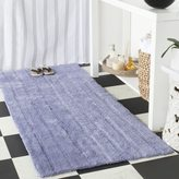 Safavieh Plush Master Spa Stripe Light Purple Bath Rug (2' 6 x 6')