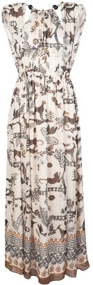 Saloni Jungle-Print Maxi Dress
