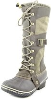 Sorel Women's Conquest Carly Waterproof Winter Boot Camo Brown