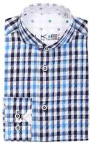 Ike Behar Check Dress Shirt (Little Boys)