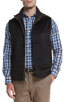 Peter Millar Greenwich Wool-Cashmere Quilted Vest, Black