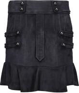 Isabel Marant Elena ruffled suede mini skirt