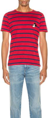 Gucci x Disney Linen T-Shirt in Red & Inchiostro | FWRD