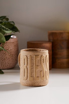 Urban Outfitters Blessed Embossed Text 15 oz Mug