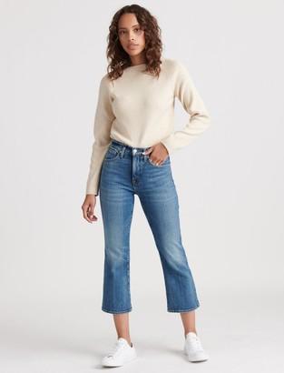 Lucky Brand High Rise Bridgette Crop Mini Boot Jean