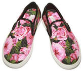Dolce & Gabbana Rose Print Shoes