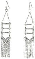 Rebecca Minkoff Pave + Fringe Chandelier Earrings