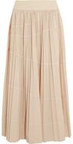 DKNY Pleated Shell Maxi Skirt