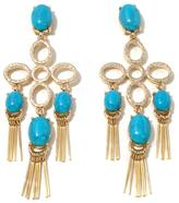 "RJ Graziano Blue Horizon"" Simulated Turquoise Multi-Tassel Earrings"