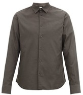 Paul Smith Beetle-button Twill Shirt - Mens - Grey