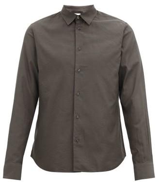 Paul Smith Beetle-button Twill Shirt - Mens - Grey