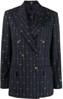 Gucci Retro GG embroidered blazer