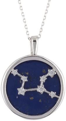 Latelita Zodiac Lapis Lazuli Gemstone Star Constellation Pendant Necklace Silver Virgo