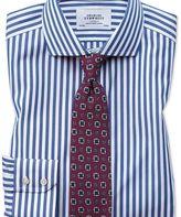 Charles Tyrwhitt Extra slim fit cutaway non-iron Bengal stripe blue shirt