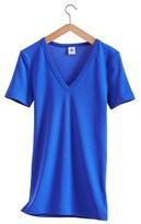 Petit Bateau Womens V-neck Vintage Cotton T-shirt
