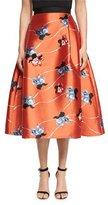 Sachin + Babi Floral-Print Flared Midi Skirt, Coral
