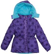 Pink Platinum Purple Heart Puffer Jacket - Infant
