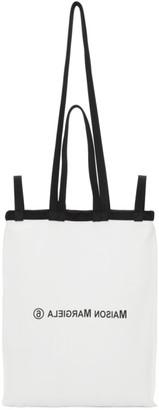 MM6 MAISON MARGIELA White and Black Double Handle Tote Bag