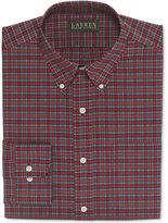 Lauren Ralph Lauren Classic-Fit Non-Iron Red Tartan Dress Shirt