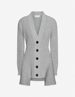 Alexander McQueen V-neck wool and cashmere-blend cardigan