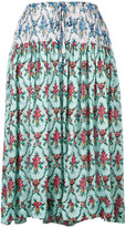 Jil Sander Navy floral print midi skirt - women - Rayon - 32