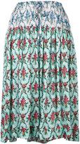 Jil Sander Navy floral print midi skirt