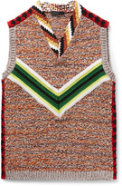 Prada Intarsia Wool Vest