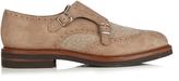 Brunello Cucinelli Monk-strap suede shoes