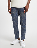 Samsoe & Samsoe Laurent Wool-silk Checked Trousers, Blue Cross