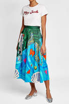 Mary Katrantzou Printed Cotton Midi Skirt