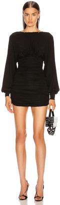 Alexandre Vauthier Stretch Jersey Mini Dress in Black | FWRD