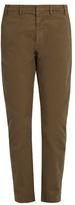 No.21 NO. 21 Mid-rise slim-leg stretch-cotton chino trousers