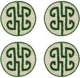 Joanna Buchanan Set of 4 Chinoiserie Coasters - Emerald